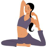 illustration girl doing yoga posture pose