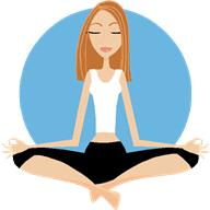 female yoga vector sitting in lotus